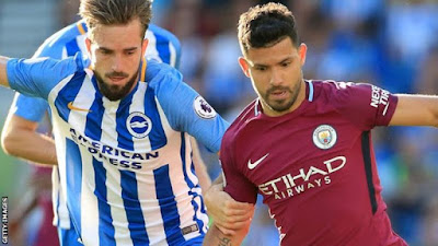 Highlight Brighton 0-2 Man. City, 12 Agustus 2017