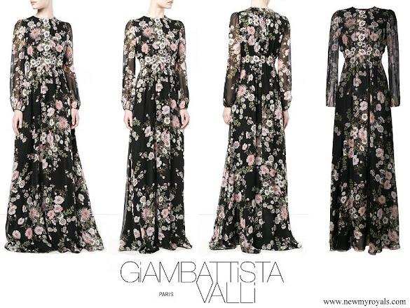Princess Madeleine wore GIAMBATTISTA VALLI floral print gown