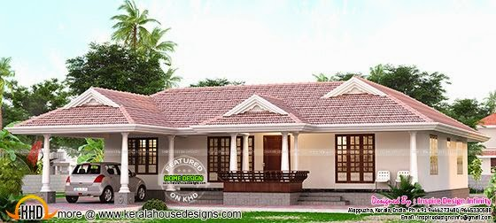 Kerala single storied house