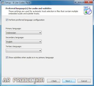 Tahap 5 Instalasi K-Lite Codec Pack Beserta Gambar