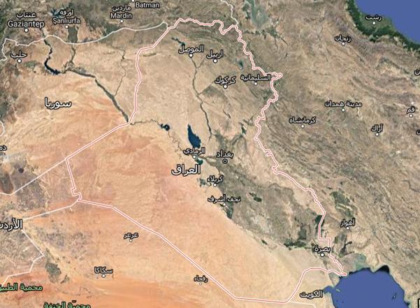 خرائط العالم من قوقل إيرث صورة تلعفر من القمر الصناعي
