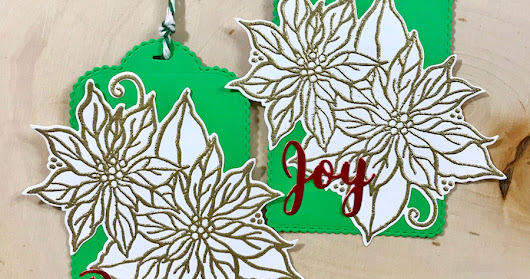 Poinsettia Greetings Tags