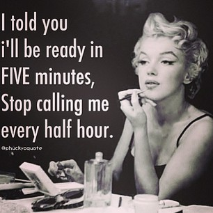 Marilyn Monroe ready in five minutes randommusings.filminspector.com