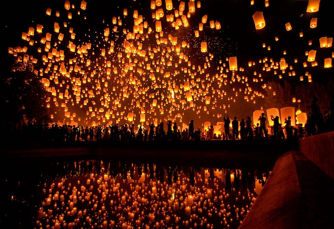 Yi Peng Lantern Festival ~ Domestic Sanity