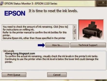 Cara Reset Manual Printer Epson L110