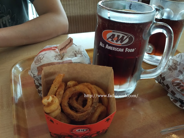 A&W Aloha Chicken Burger Combo
