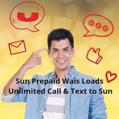 Sun Prepaid Wais Loads - Unli Call and Text To Sun