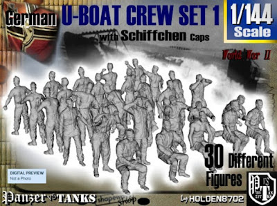 1-144 German U-Boot Crew Set 1 picture 1