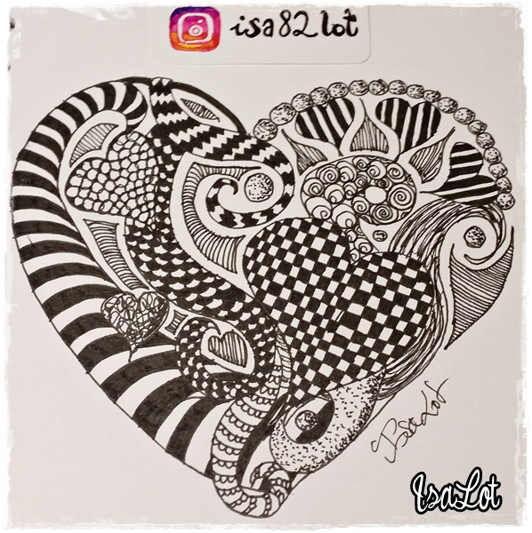 Isalot Scrapbooking Cómo Dibujar Mandalas Con Forma De Corazón Para