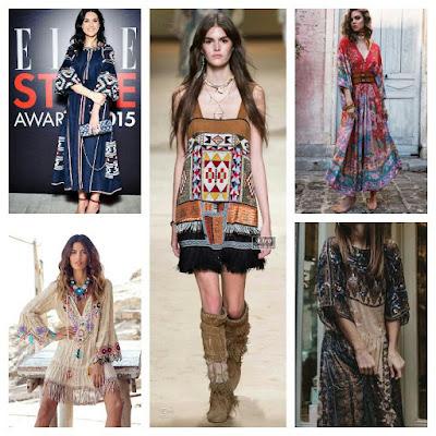 Vários vestidos étnicos adaptados a variadas situações