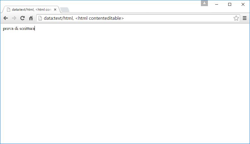 Google Chrome, trasformare la scheda corrente in un editor di testo
