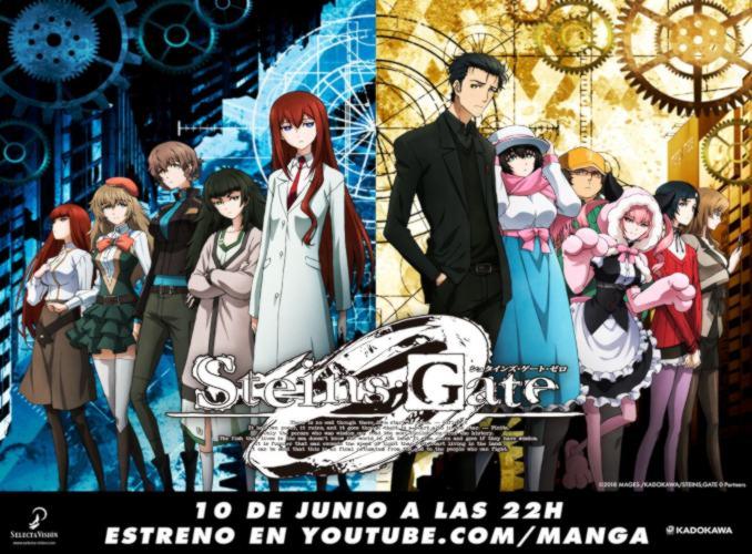 Steins;Gate 0 anime simulcast Selecta Visión
