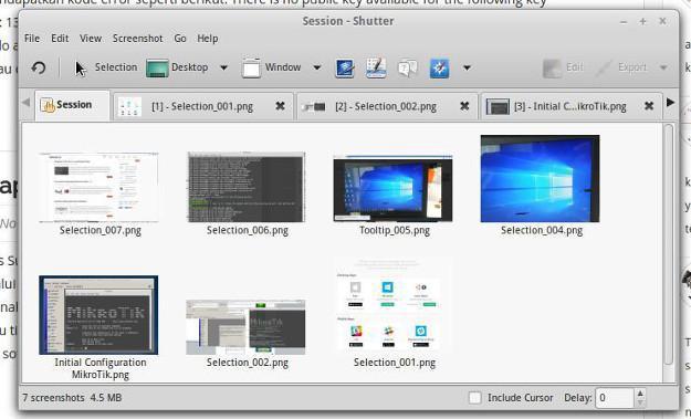 Shutter Aplikasi Snipping Tool di Linux