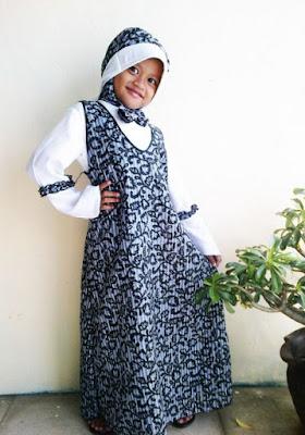 Model Baju Batik Anak Perempuan Jilbab