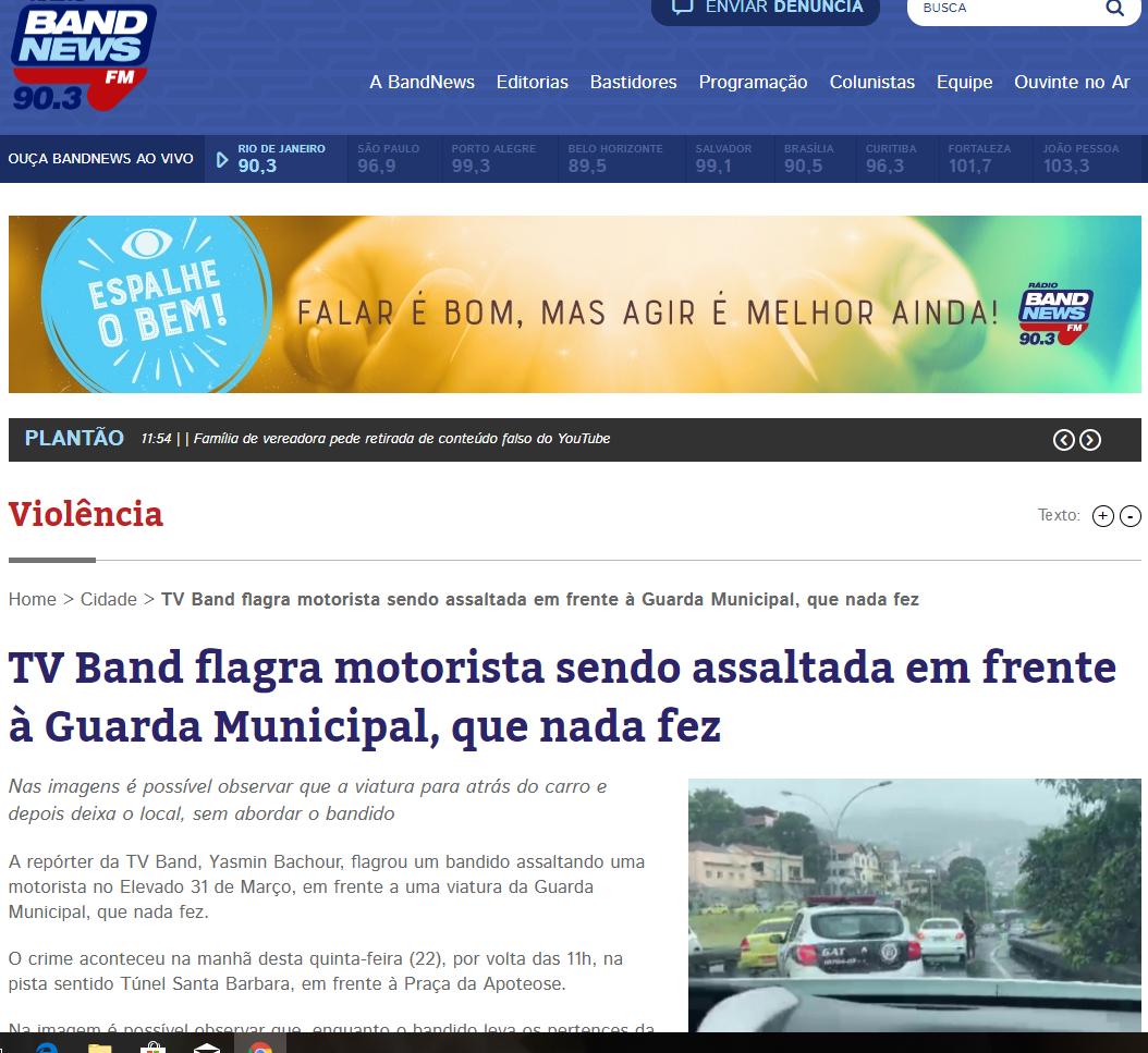 b9449d30b8 Polícia Municipal 24horas GM  TV BAND ACUSA (Guarda Municipal ...