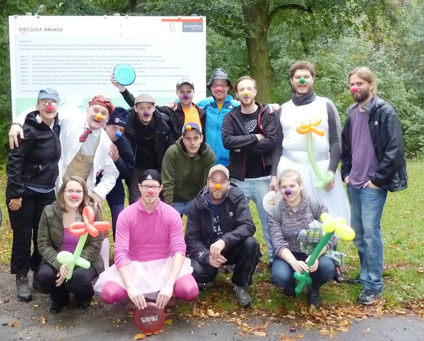 Rosa Tütü Spendenwette Disc Golf