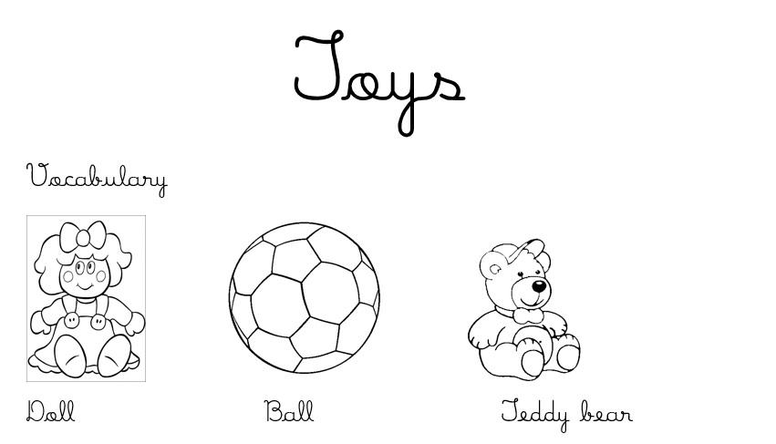 Toys Ingles Para Criancas Hora De Colorir Atividades Escolares