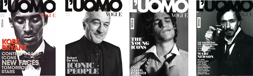 L'UOMO Vogue magazine covers as seen on www.viaoptimae.com