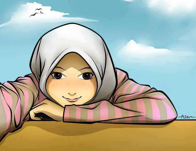 Gambar Kartun Berhijab Cantik: Kumpulan Gambar Kartun Akhwat Wanita Muslimah Cantik