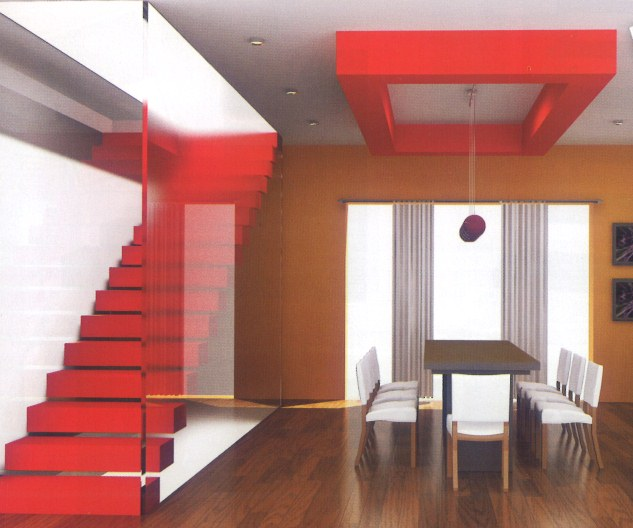 Gambar Bangunan Rumah: Desain Tangga Untuk Lantai 2 Rumah Minimalis (12 Gambar