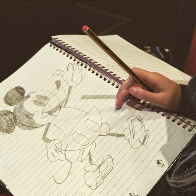 sketch of Mickey Mouse by 8 yr old