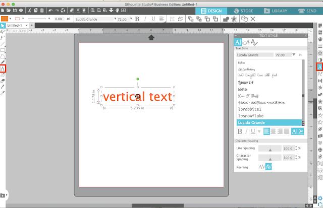vertical text, horizontal, silhouette studio, silhouette design studio, silhouette studio tutorials