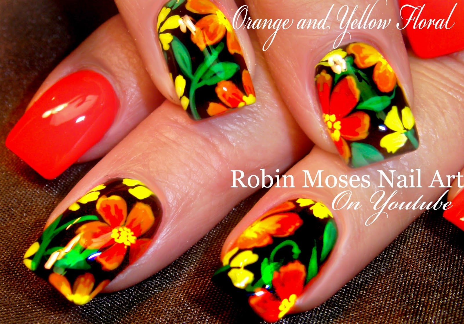Robin Moses Nail Art: Tropical Nails with Essie Sunshine