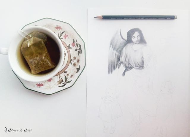 Proceso creativo de un dibujo realista a lápiz