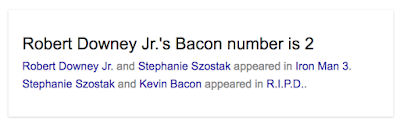 Google Easter Egg - Robert Doweny Jr's Bacon Number