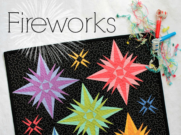 Fireworks Mini Quilt + Your Free October 2016 Calendar