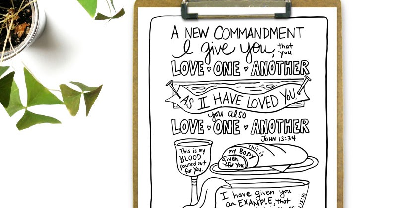 The Mandatum Novum Love One Another Coloring Page