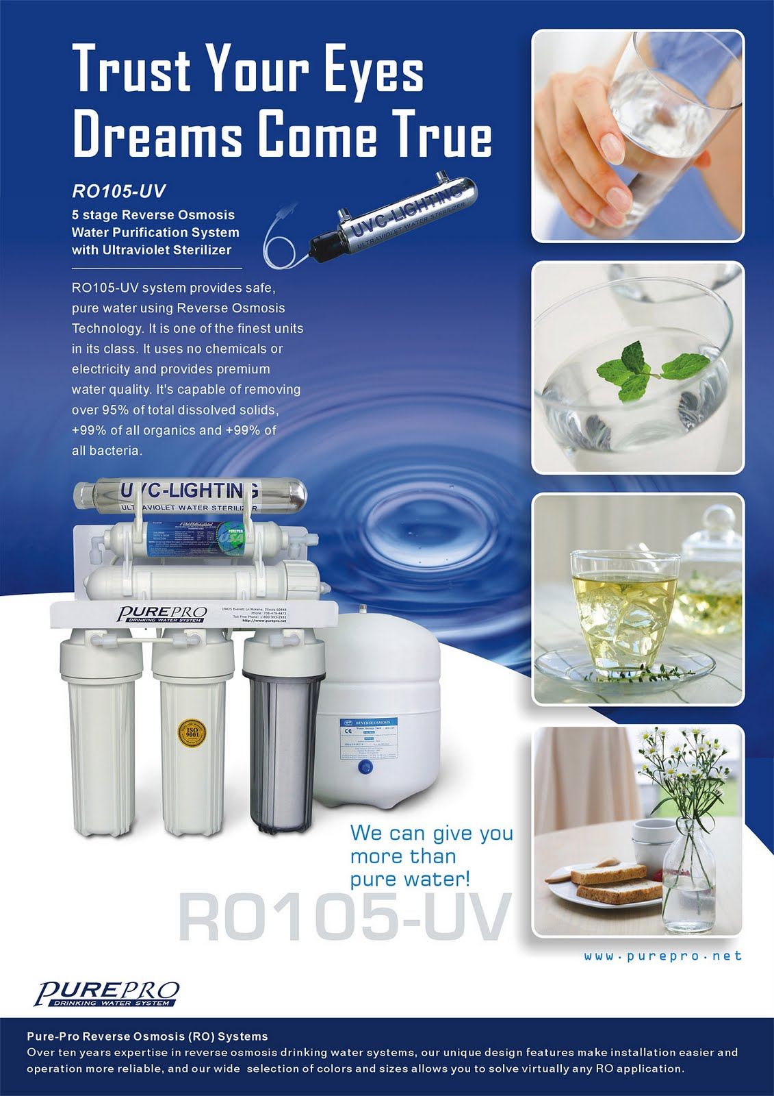 PurePro® RO105UV Reverse Osmosis Pure Water Filtration System