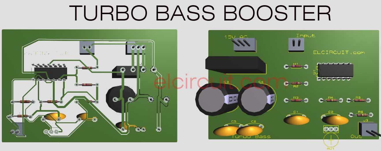 turbo bass or bass booster circuit electronic circuit rh elcircuit com T3 Turbo Diagram Turbocharge System