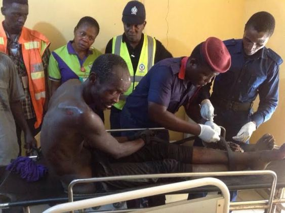 the man who demanded 5 million Naira or he would jump from a lekki pole and kill himself has been rescued