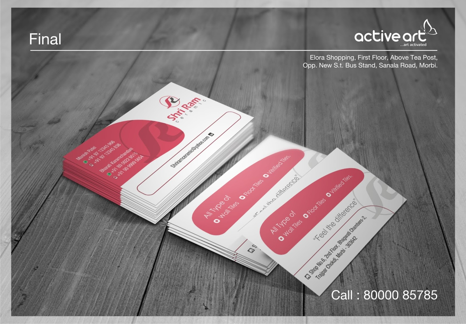 Business card design active art business card design standard colourmoves