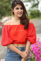 Rhea Chakraborty in Red Crop Top and Denim Shorts Spicy Pics ~  Exclusive 097.JPG