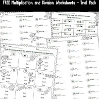 Free multiplication and division worksheets