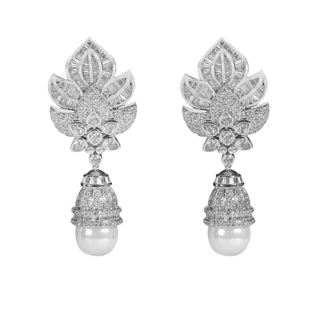 Lotus Pearl Earrings by shazé