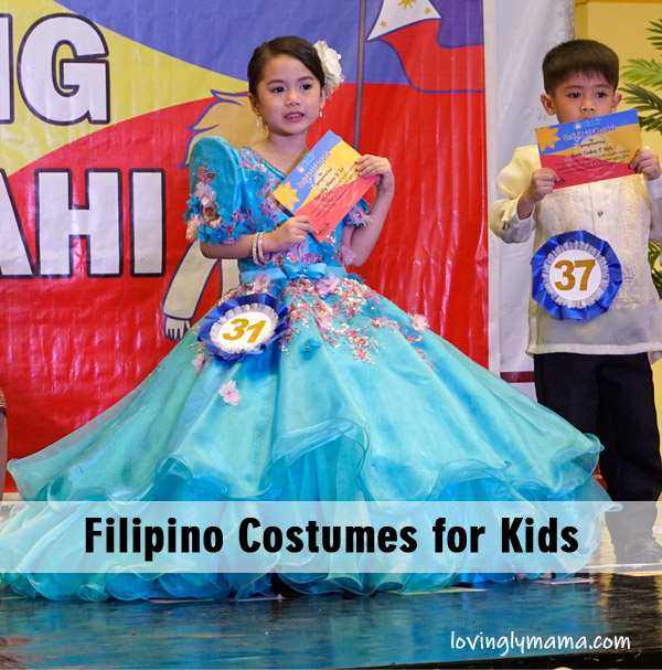 turquoise gown - Filipiniana costume - traditional filipino costumes for kids - Araw ng Lahi
