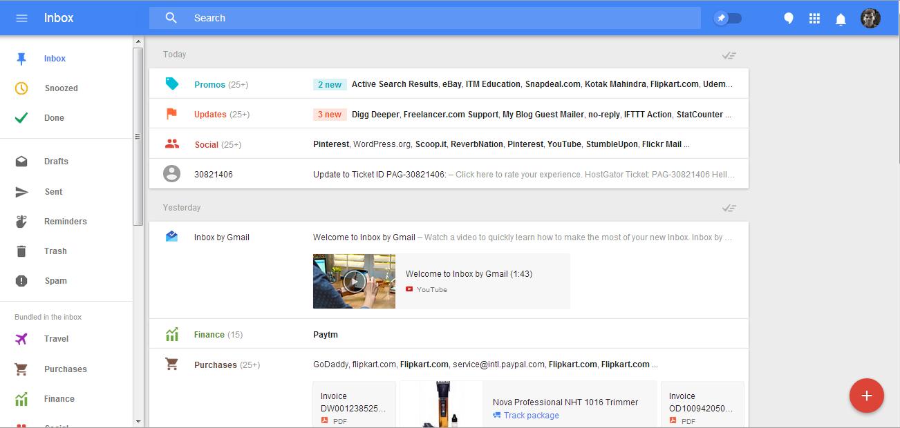 google inbox app at desktop and pc
