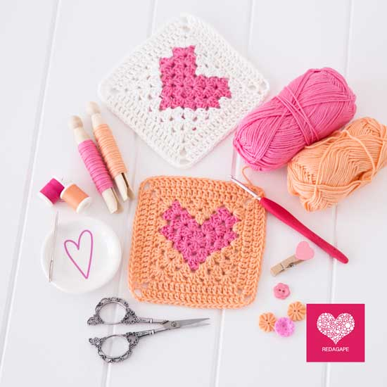 Ergahandmade Crochet Heart Granny Square Diagram Free Pattern