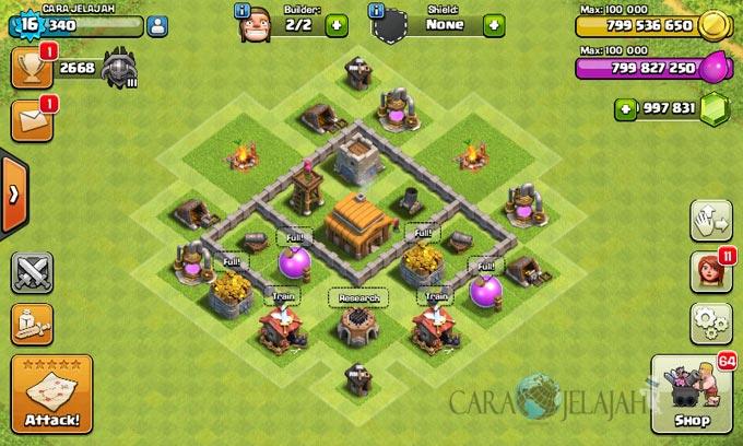 Desain Susunan Base War TH 3 Clash Of Clans Terbaik dan Terbaru 13