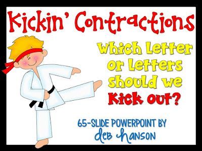 Contractions PowerPoint- This 65-slide PowerPoint can be used to introduce or review contractions.