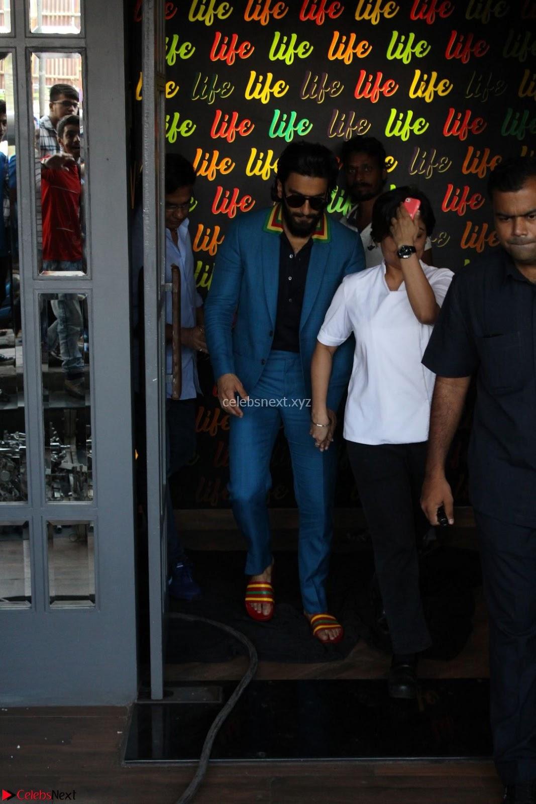 Ranveer Singh in Blue Blazer Spotted Life Bar ~ CelebsNext Exclusive