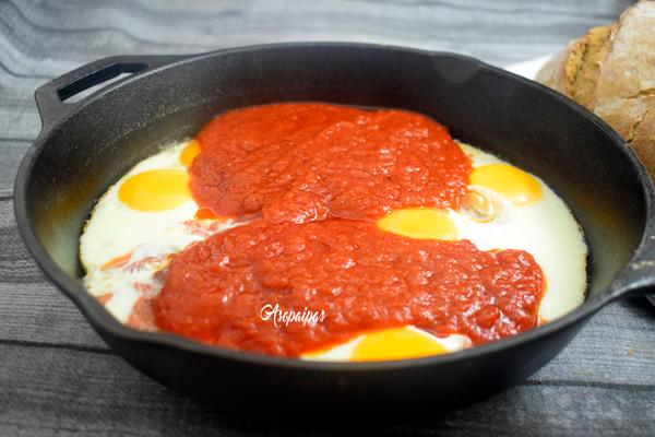 Huevos con jam n a la asturiana v deo receta recetas de for Cocina asturiana