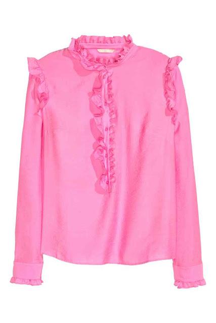 camicetta rosa hm con volant