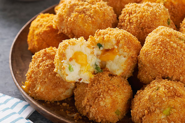 The Best Mashed Potato Cheese Bites