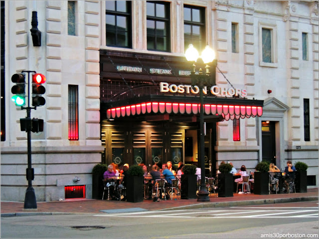 Dine Out Boston Agosto 2017: Fachada del Restaurante Boston Chops