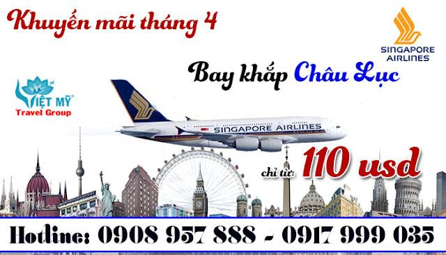 Khuyến mãi tháng 4 cùng Singapore Airlines
