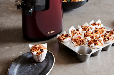 Cranberry Orange Muffins with Walnut Crumble Topping Recipe